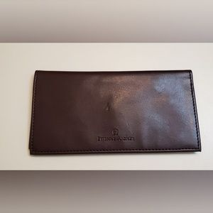 Etienne Aigner Oxblood Cash and Check Book Holder